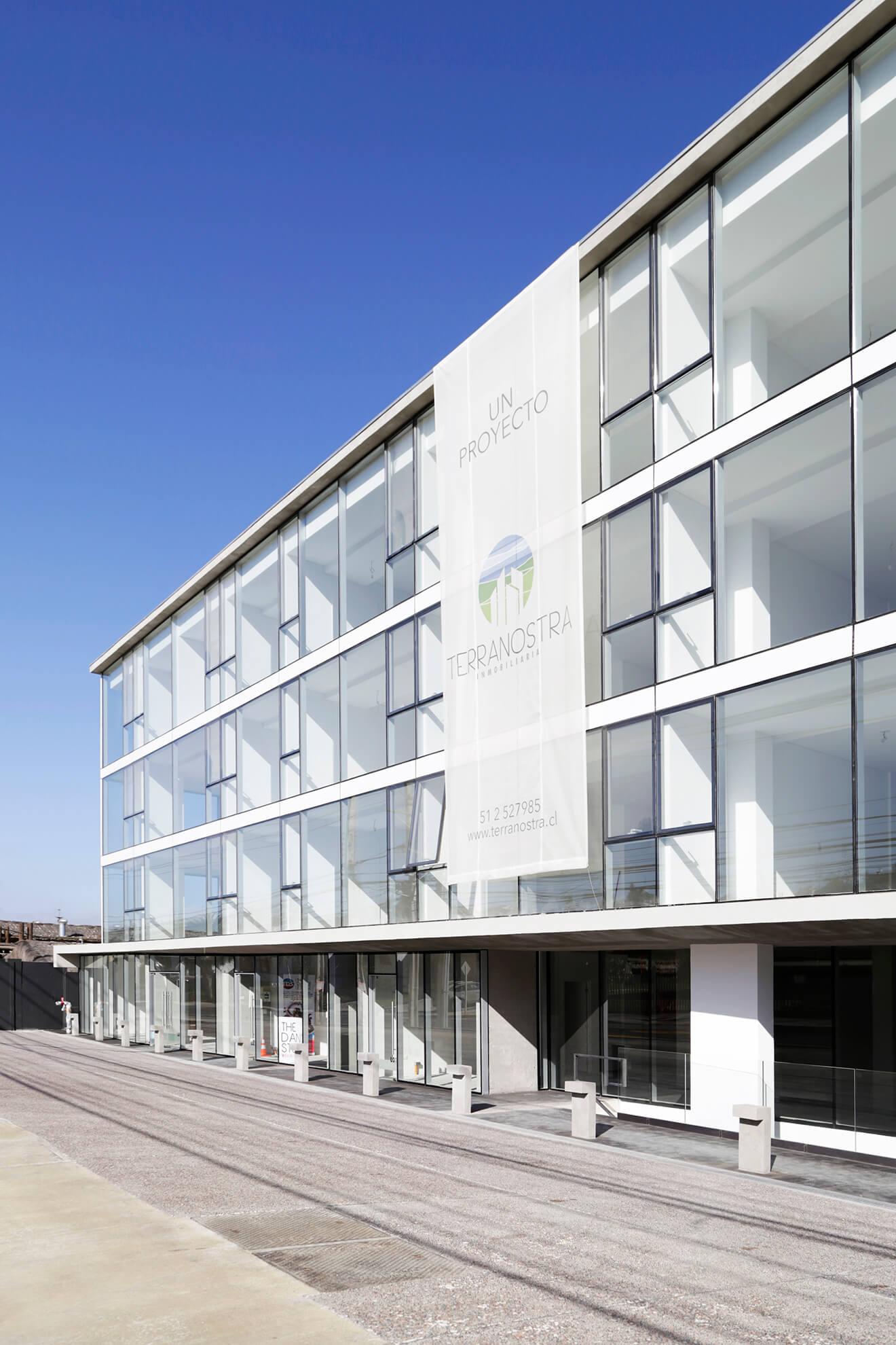 Fachada-Edificio-Atrium-construcción-constructora-Rencoret-La-Serena